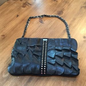 Be&D 3-Way Black Goatskin Handbag